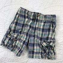 Baby Gap 18-24 Month Shorts Boys Long Plaid Cargo Bottoms Toddler Blue Pockets Photo