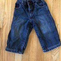 Baby Gap 18-24 Months Toddler Boys Dark Blue Denim Jeans Elastic Waist Photo