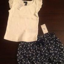 Baby Gap 18 to 24 Months Eyelet Tank Top Nwt Baby Gap Bubble Floral Shorts Nwt Photo