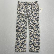 Baby Gap 1969 Blue Flowers Denim Pants Girls 4 Photo
