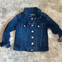 Baby Gap 1969 Denim Pintuck Jacket Size 4 Years Flip Cuff Photo
