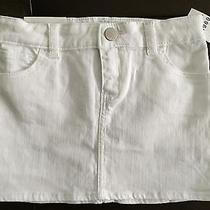 Baby Gap 1969 Girls White Skirt Size 5t Nwt Mini Jean Photo
