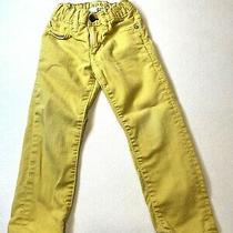 Baby Gap 1969 Skinny Jeans Mustard Yellow Amber Glow Adjustable Sz 3 Kids  Photo