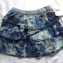 Baby Gap 1969 Skirt Tie Dye Blue Skirt Ruffled Tiered Skirt Size 4t Nwt Photo