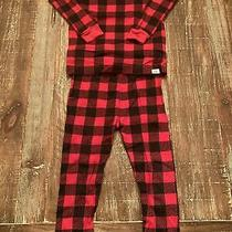 Baby Gap 2t (2 Years) Toddler Unisex Pajamas Black and Red Checkered Holiday Photo