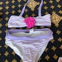 Baby Gap 2t Bathing Suit Lilac and White Photo