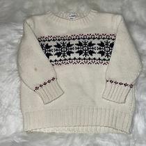 Baby Gap 2t Boys Cream Fair Isle Heavy Cotton Sweater Euc Photo
