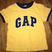 Baby Gap 2t Boys Yellow Logo Top Shirt Short Sleeve Guc Photo