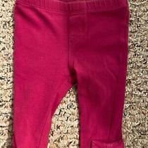 Baby Gap 3-6 Month Pinkish Purple Bow Accent Leggings Photo