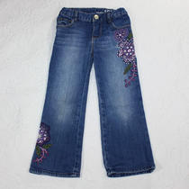Baby Gap 3t 3 Covent Garden Embroidered Jeans Purple Floral Photo
