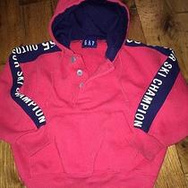 Baby Gap 3t Boys Red Hoodie Outdoor Ski Champion Top Shirt Guc Photo