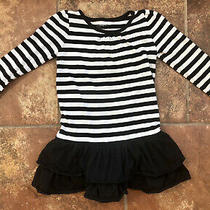 Baby Gap 4t Girls Black and White Striped Dress. Cute Photo