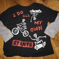 Baby Gap 4t Halloween I Do All My Own Stunts Boys Top Shirt Long Sleeve Euc Photo