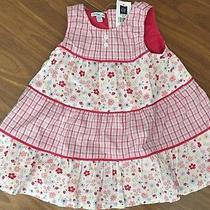 Baby Gap 6-12 Months Pink Floral Sleeveless Dress Photo