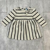 Baby Gap 6-12 Months Striped Gray Horizontal Dress  Photo
