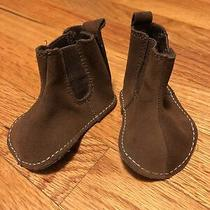 Baby Gap Baby Boy Brown Booties Size 0-3 Months Photo