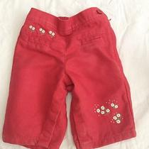 Baby Gap Baby Girl 0-3 Months Old Red Pants Photo