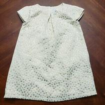 Baby Gap Baby Girl Ivory and  Gold Dress 18 -24 M Photo