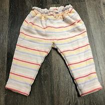 Baby Gap Baby Girl Striped Pink Pants Size 12-18 Month Photo