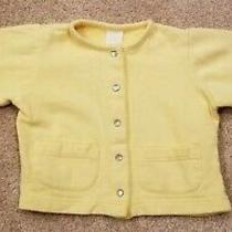 Baby Gap Baby Girls Yellow Snap Buttoned Jacket Size Xl (18-24 Months) Photo