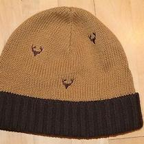 Baby Gap Beanie Winter Knitted Cap Hat Brown Deer Toddler Size 4-5 Years M/l Photo