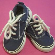 Baby Gap Black Canvas Sneakers Shoes Toddlers 7 Photo