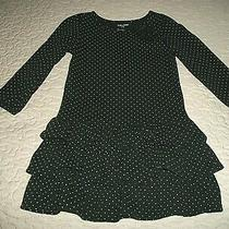 Baby Gap Black L/s White-Dotted Tiered/ruffled Bow-Trimmed Dress - Size 2t Photo