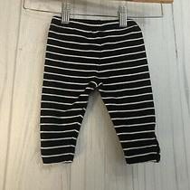Baby Gap Black Striped Leggings 3-6m Photo