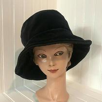 Baby Gap Black Velvety Floppy Bucket Brim Girls Hat -Dressy or Casual- Photo