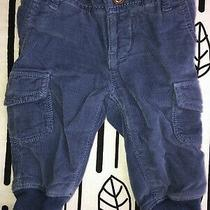 Baby Gap Blue Corduroy Lined Pull on Pants Boys 6-12 Months Photo