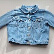 Baby Gap Blue Denim Jean Jacket Size 4 Years Light Wash Photo