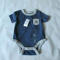 Baby Gap Blue/gray Cotton Blend Snap One Piece - Infants Size 0-3 Months - New Photo