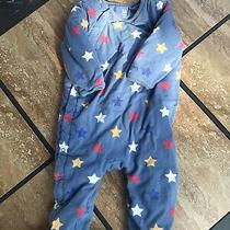Baby Gap Blue Quilted Star Bunting 6-9m Footed Photo