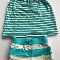 Baby Gap Blue Striped Playtime Favorites Two Piece Outfit Size 2 Years Photo