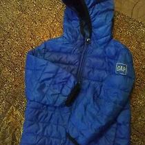 Baby Gap Blue Winter Jacket With Hood Sz 18-24 Months Photo