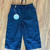 Baby Gap Boy Board Shorts 4 Yrs Navy Blue 55% Linen 45% Cotton Elastic Waist Photo