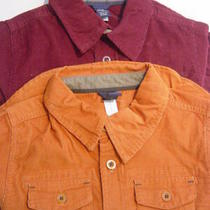 Baby Gap Boy Corduroy Cord Burgundy & Orange Shirts Tops Size 3t 3 Years Nwt Photo