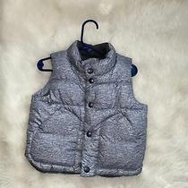 Baby Gap Boy Gray Puffer Vest Fleece Lined Size 12-18 Months Warm Outerwear Photo