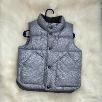 Baby Gap Boy Gray Puffer Vest Fleece Lined Size 2 Years Toddler Warm Outerwear Photo