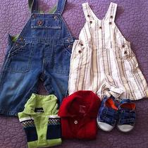 Baby Gap Boy Lot Overalls and Polos 6 Months 12 Months Photo