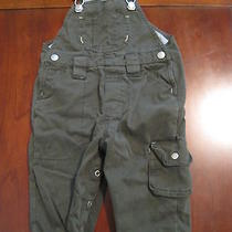Baby Gap Boy Olive Green Lined Cotton Overalls 6-12 Months Euc Warm Photo