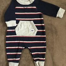 Baby Gap Boy One Piece Sleeper Footless Pajama Coveralls Romper 0-3 Months Photo