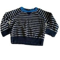 Baby Gap Boys Blue Striped Long Sleeve Sweater 12 - 18 Mths Photo