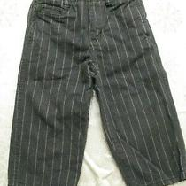 Baby Gap Boy's Dress Pants Sz 18-24 Months Gray W Pinstripe Adjustable Waist Photo