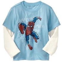 Baby Gap Boy's  Junk Food 2-in-1 Spiderman Graphic T-Shirt Size 18-24 Months Photo