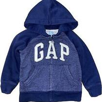Baby Gap Boy's Navy Blue Hoodie Size 2t Photo