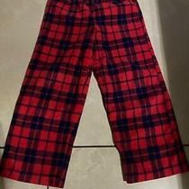 Baby Gap Boy's Toddler Red Plaid Pajama Pj's Bottoms Fleece Size 5 Photo