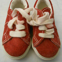 Baby Gap Boy Toddler Shoes Red Sneakers 5t Photo