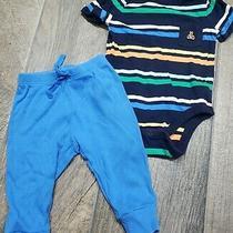 Baby Gap Boya 3-6 Months Pajamas Sleepwear Blue Stripes  Photo