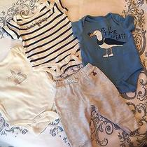 Baby Gap Boys 0-3 Month Onesie and Pants Lot Photo